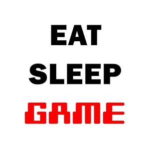 Eat Sleep Game - White by Color Me Happy