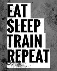 Eat Sleep Train Repeat by Color Me Happy