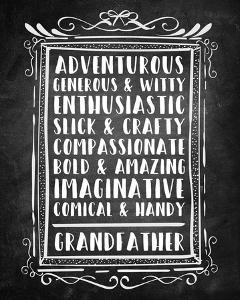 Grandpa - Chalkboard by Color Me Happy