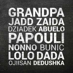 Grandpa Various Languages - Chalkboard by Color Me Happy