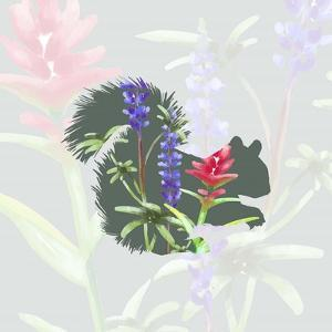 Green Floral Squirrel by Color Me Happy