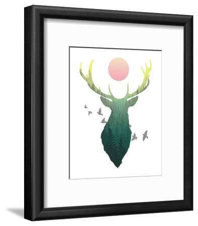 Green Ombre Forest in Stag Silhouette