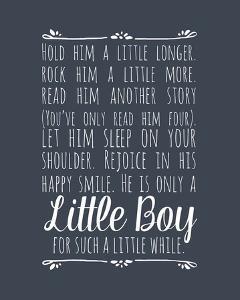 Hold Him A Little Longer - Blue by Color Me Happy