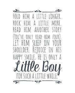 Hold Him A Little Longer - White by Color Me Happy