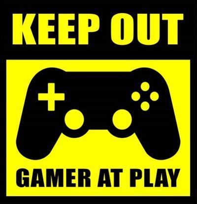 Keep Out Gamers At Play by Color Me Happy