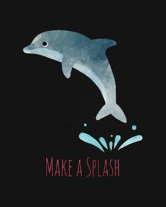 Make a Splash Dolphin Black by Color Me Happy