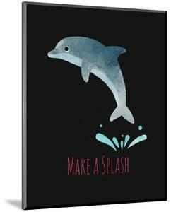 Make a Splash Dolphin Black by Color Me Happy