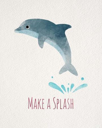 Make a Splash Dolphin White