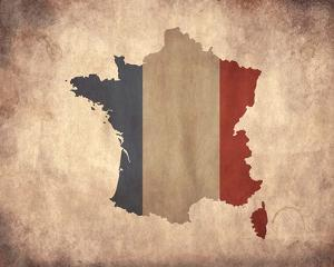 Map with Flag Overlay France by Color Me Happy