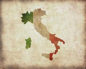 Map with Flag Overlay Italy by Color Me Happy