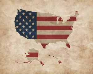 Map with Flag Overlay United States by Color Me Happy