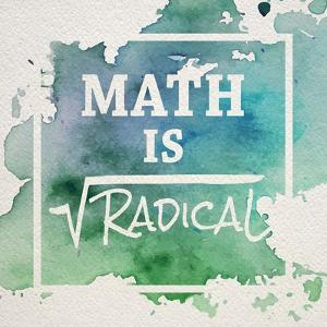 Math Is Radical Watercolor Splash Green by Color Me Happy