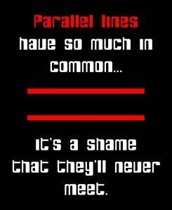 Math Joke - Black and Red by Color Me Happy