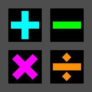 Math Symbols Square - Colorful Symbols by Color Me Happy