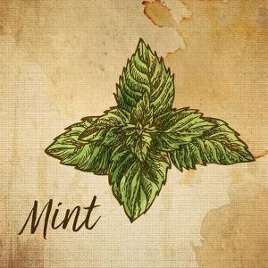 Mint on Burlap by Color Me Happy