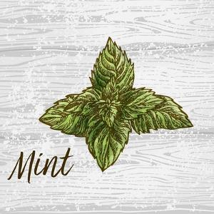 Mint on Wood by Color Me Happy