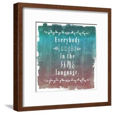 Ombre Everybody Laughs Teal