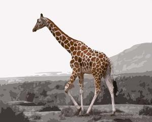 Pop of Color Lone Giraffe by Color Me Happy
