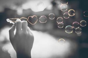 Pop of Color Rainbow Love Bubbles by Color Me Happy