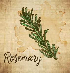 Rosemary on Burlap by Color Me Happy