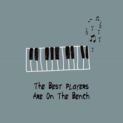 The Best Players Are On The Bench Blue by Color Me Happy