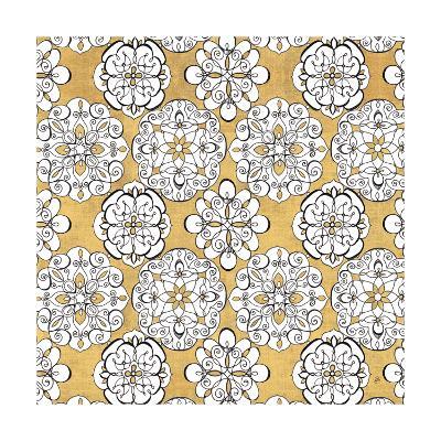 Color my World Kolam Pattern Gold-Daphne Brissonnet-Art Print