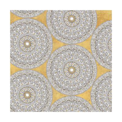 Color my World Mandala Pattern Gold-Daphne Brissonnet-Art Print
