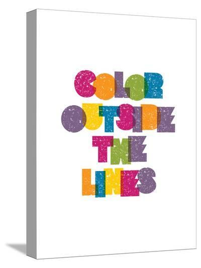 Color Outside the Lines-Brett Wilson-Stretched Canvas Print