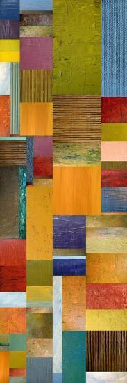 Color Panels with Olives Stripes-Michelle Calkins-Art Print