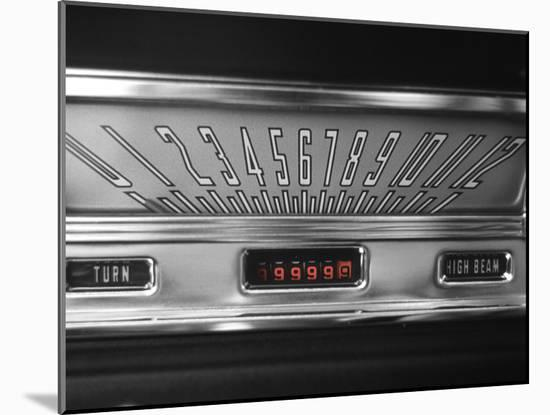 Color Pop,1960s 1970s SPEEDOMETER DASH DASHBOARD VINTAGE CAR--Mounted Photographic Print