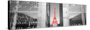 Color Pop, Eiffel Tower Paris France, Living Coral