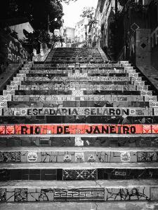 Color Pop, Low angle view of a staircase, Lapa Steps, Rio De Janeiro, Brazil, Living Coral