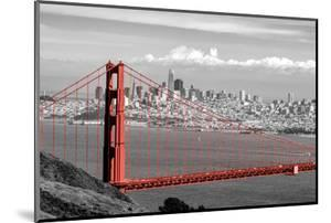 Color Pop, View of Golden Gate Bridge with skylines in the background, San Francisco Bay