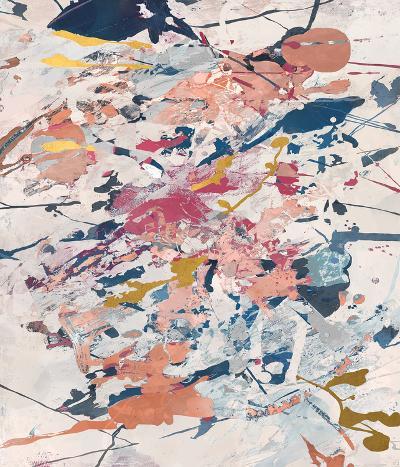 Color Scar--Hand Embellished Art