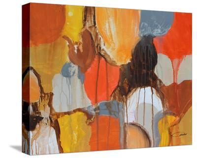 Color Shapes--Stretched Canvas Print