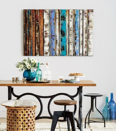 Color Study III* - Dimensional Metal Wall Art--Home Accessories