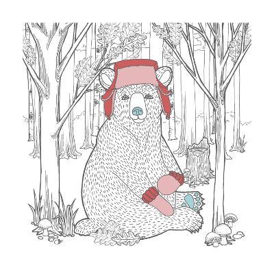 Color the Forest Color I-Elyse DeNeige-Art Print