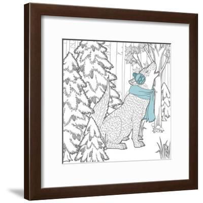 Color the Forest Color VI-Elyse DeNeige-Framed Art Print