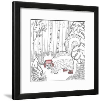 Color the Forest Color X-Elyse DeNeige-Framed Art Print