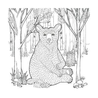 Color the Forest I-Elyse DeNeige-Art Print