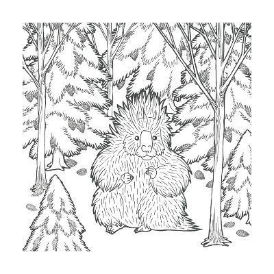 Color the Forest IX-Elyse DeNeige-Art Print