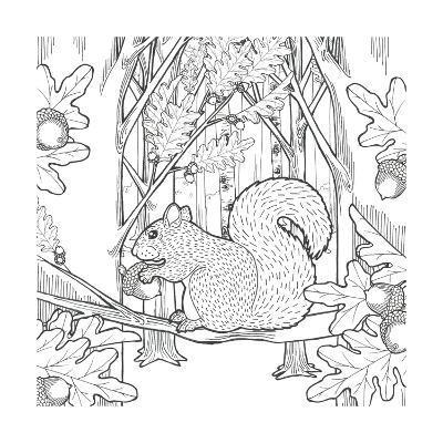 Color the Forest VIII-Elyse DeNeige-Art Print