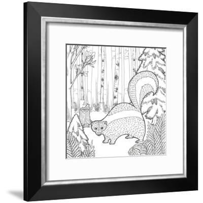 Color the Forest X-Elyse DeNeige-Framed Art Print