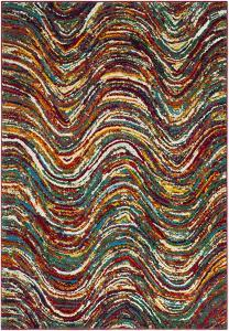 "Color Waves Area Rug - 5'3"" x 7'6"""