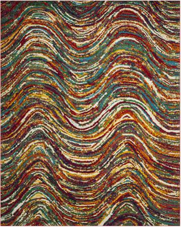 Color Waves Area Rug - 8' x 10'