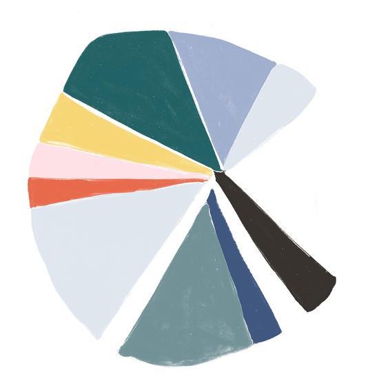 Color Wheel V-June Erica Vess-Art Print