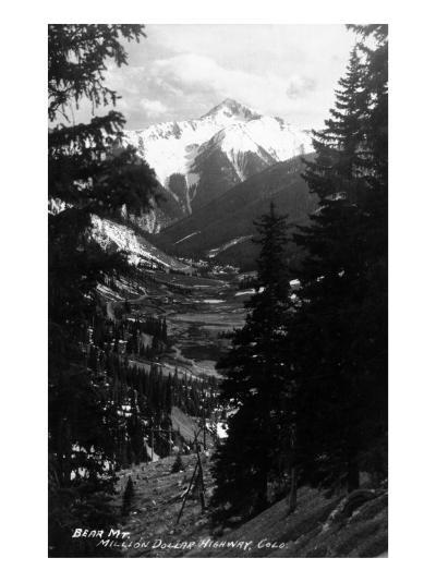 Colorado - Bear Mountain from Million Dollar Hwy-Lantern Press-Art Print