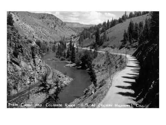 Colorado - Byers Canyon and Colorado River-Lantern Press-Art Print