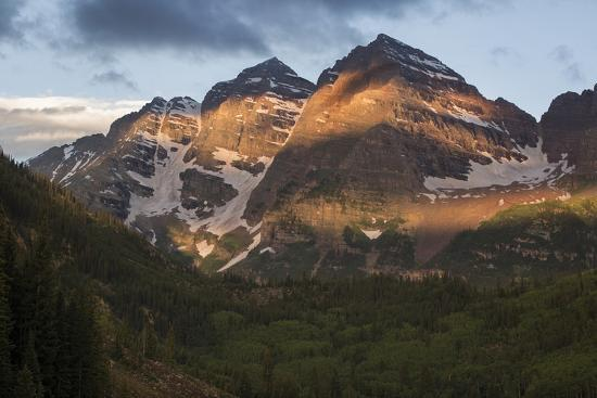 Colorado, Maroon Bells State Park. Sunrise on Maroon Bells Mountains-Don Grall-Photographic Print