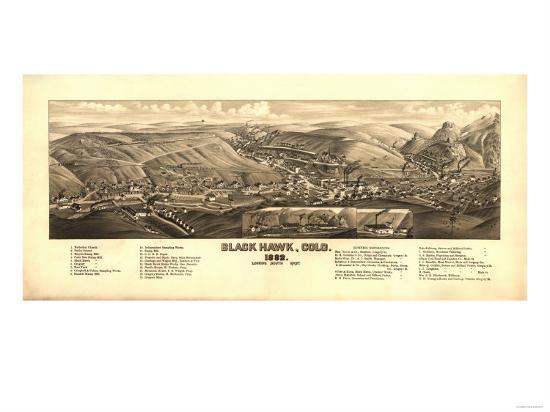 Colorado - Panoramic Map of Black Hawk-Lantern Press-Art Print